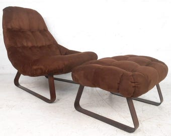 Contemporary Modern Lounge Chair with Ottoman (7826)NJ