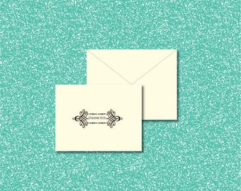 Corporate / Business Quality Thank You Cards With Blank Envelopes