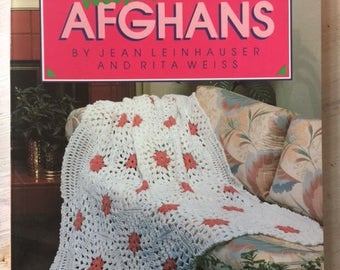 Weekend Afghans-Jean Leinhauser and Rita Weiss-1987-Vintage Book-Paperback-How To Afghans-DIY Afghans-Step by step Afghans-Baby Afghans-Knit