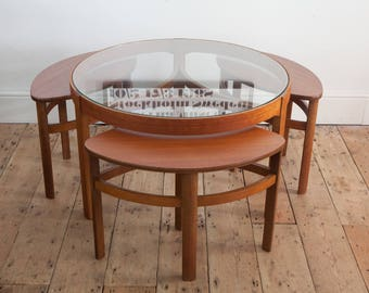 Vintage Nathan Trinity Eye Coffee Table with Nesting Side Tables