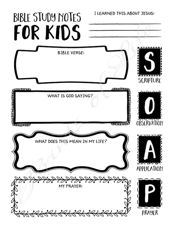 Subject Verb Agreement Worksheets Grade 2 Bible Study Notes For Kids Pdf Printable Soap Boys Girls Noun Worksheets Middle School with Punctuation And Capitalization Worksheets Pdf Bible Study Notes For Kids Pdf Printable Soap Boys Girls Youth Teens  Instant Download Worksheet Journal Guide Planner Log Scripture Mixed Number Addition And Subtraction Worksheet Pdf