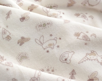 Velour Fabric Cute Animals By The Yard