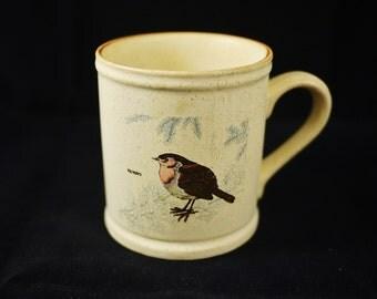 Vintage Ceramic Robin Bird Mug / Cup