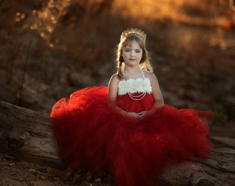 Red Flower Girl Dress, Red Tutu Dress, Red Flower Girl Tutu Dress, Red Dress, Red Wedding, Red Tulle Dress