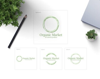 Abstract Circle Logo, pre made logo design, circle logo, abstract logo, minimal logo, professional logo, organic logo, simple logo, vector