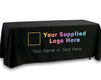Your Logo Full Color, Fully Customized Premier Tablecloth