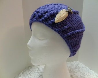 Handmade Crochet Beanie with Removable Decorative Pin