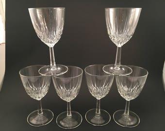 Vintage Wine Glass - Set of 6 - Wine Glass - Vintage Wine Glasses - Wine Glasses - Vintage Wine Glass - Vintage Barware - Barware - Glasses
