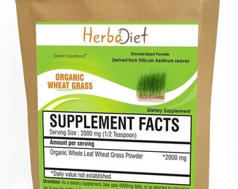 WHEATGRASS POWDER USDA Organic 100% pure whaet grass powder