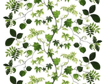 Scandinavian Swedish fabric Botanic Leaf LIV - 100% Cotton - 150 cm (59'') wide