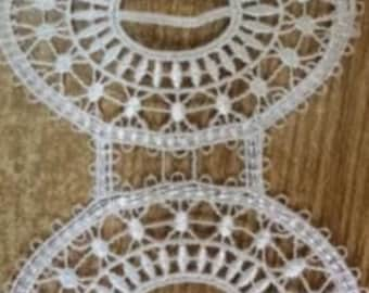 white lace trim for DIY sewing,polyester lace trim