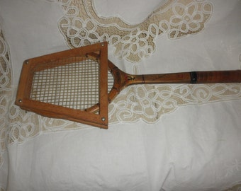 Tennis Racket by Spalding Top Flite for Championship Play with Press Wooden