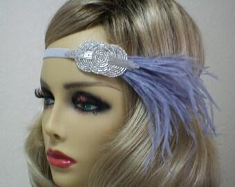 Silver 1920s Headband, Flapper Headband, Gatsby headband, 1920s Headpiece, Infinity headband, 1920s Hair Accessory, Vintage Inspired