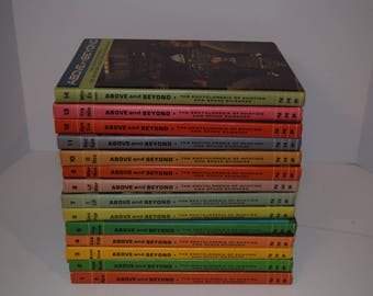 """Vintage 1967 14 Volume Set - """"Above and Beyond - Encyclopedia of Aviation and Space Sciences - Complete"""