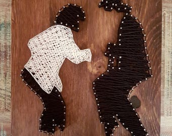 Silhouette String Art