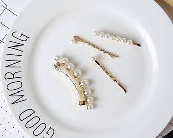 Pearl Hair Pin Hair Clip Set of 4