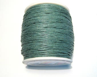 15ft Dark Green Wax Cotton Cord Bracelet Necklace Cord 1mm( No.275)(lo1)