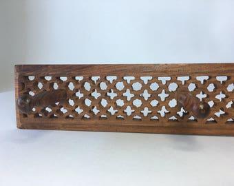 Moroccan Cedar Wooden 4 Peg Rack