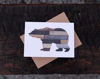 Rustic Bear Folded Note Cards