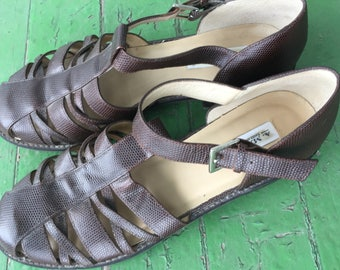 REDUCED! A. Marinelli Brown Leather Shoes 10 1/2 Narrow