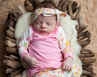 Floral Shirt with Ruffle - Size Newborn