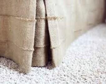 Burlap Bedskirt - Bed Skirt - Rustic Bedskirt - Burlap Bedding - Bedskirt - Farmhouse Bedskirt - Burlap Valance - King Size