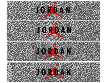 Jordan Cement Print water bottle labels