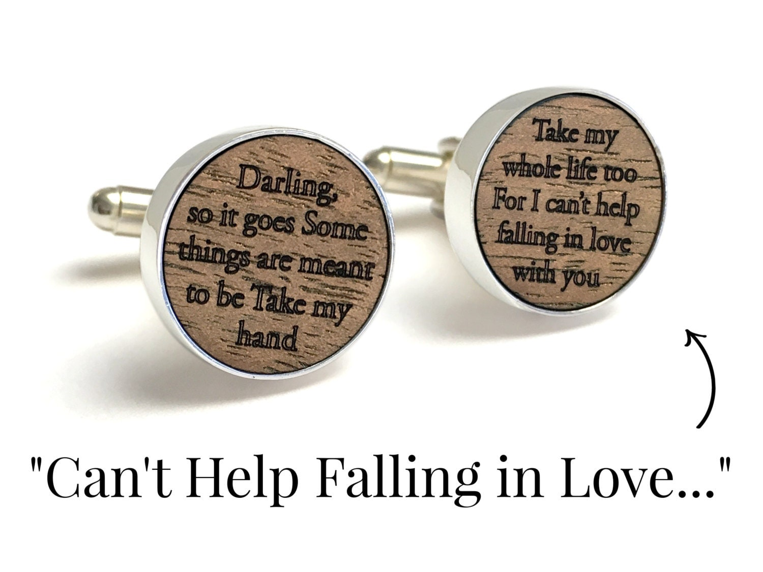 Can\'t Help Falling in Love // Groom Gift // Wedding Song Lyrics ...