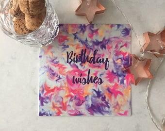 Beautiful Burst Birthday Card