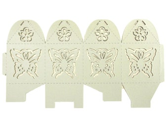Butterfly Laser Cut Favor Boxes, 2-Inch, 12-Piece