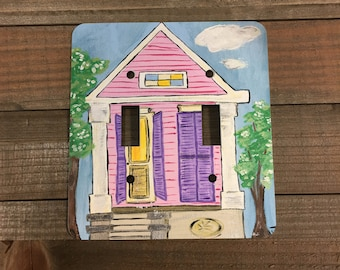 New Orleans Shotgun Double Light Switch Plate Cover