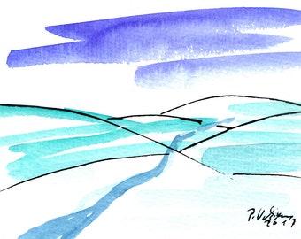 """Watercolour """"Small landscape III"""""""