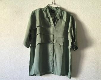 Vintage Blouse - Loose Layered Top Sheer