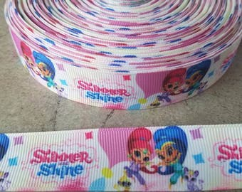 Shimmer and Shine Grosgrain Ribbon. Shimmer and Shine 7/8 inch ribbon.