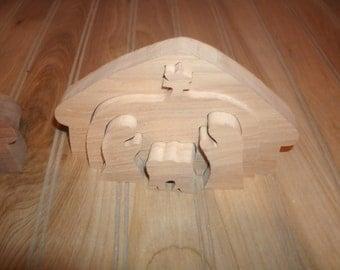 wood nativity nativity wooden nativity set oak or walnut nativity set - Wooden Nativity Set