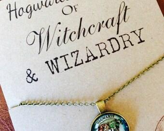 Harry Potter Inspired  Hogwarts Crest Necklace