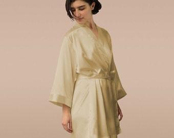 wedding robe, sexy robe, cheap bridesmaid robe, silk robe, satin robe, bridesmaid gift robe, gold robe, getting ready robe for bridesmaid