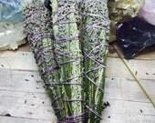 Lavender Smudge Sticks Sage Smudge Bundle White Sage Stick Sage Smudge Wand Lavender and Sage Bundle Ceremonial Fragrant Sacred Plant Smoke