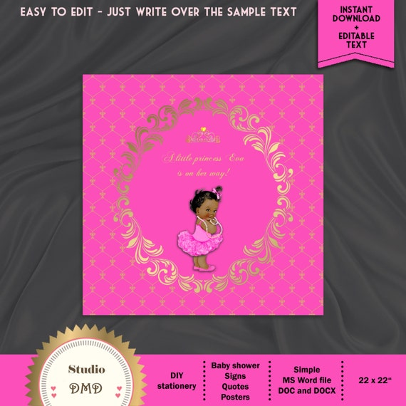 Quotes For Welcome Baby: Welcome Baby Shower Sign Little Princess Baby Shower Quote