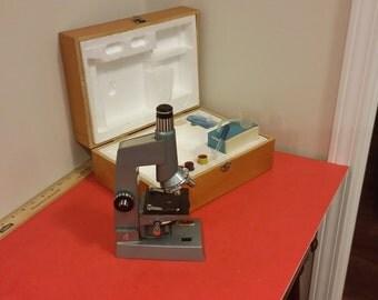 Vintage Sears Microscope Discoverer Model # 4 6377