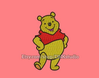 Winnie the Pooh Embroidery Design - 5 Sizes - INSTANT DOWNLOAD