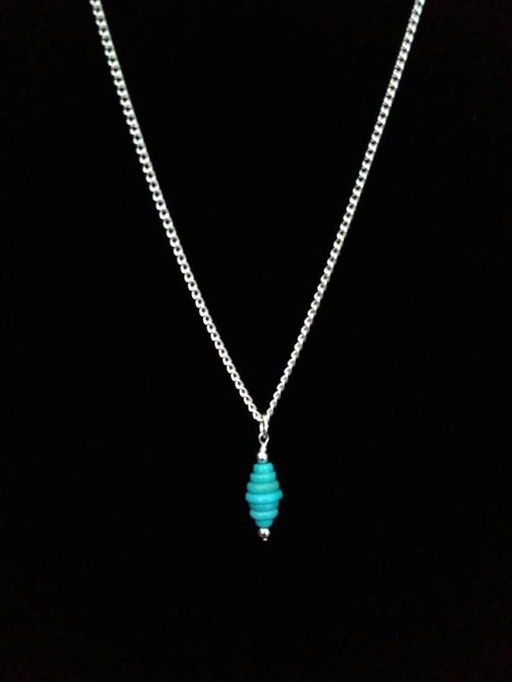 Turquoise Graduated Disc Pendant N6151710