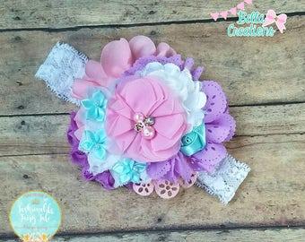 Pastel headband, Easter head piece, Easter hair bow, pastel hair piece, pastel headband, Easter baby bow, pastel baby bow, Easter pastel bow