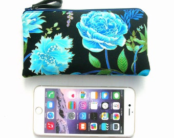 Large cell phone pouch. Large smartphone pouch. Iphone 6 plus pouch. Cell phone case. 6 plus pouch. Iphone case. Iphone pouch. Iphone purse.
