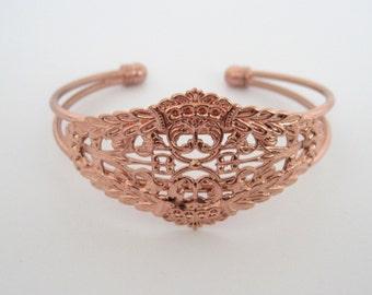 2pcs 28x58mm Rose gold flower bracelet,  bracelet diy setting Jewelry findings  xf06110