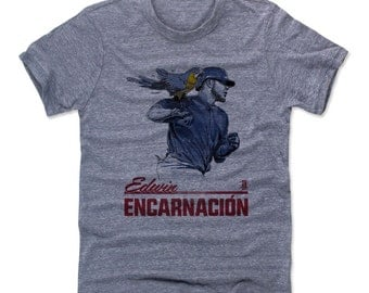 Edwin Encarnación Parrot B Cleveland Officially Licensed MLBPA T-Shirt Unisex S-2XL