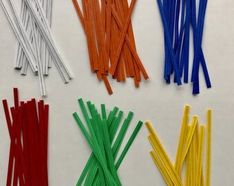"3 x 2000 Paper Twist Ties 4"" Pick Color Blue Red Green White Orange Yellow Tie"