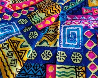 Vintage Hawaiian Abstract Art Fabric 3 + Yards Unused