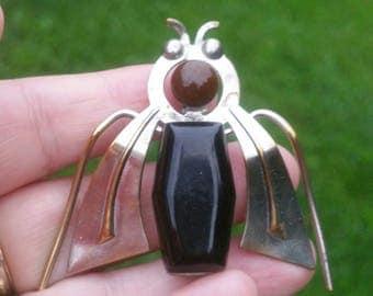 Vintage art deco bakelite bug pin