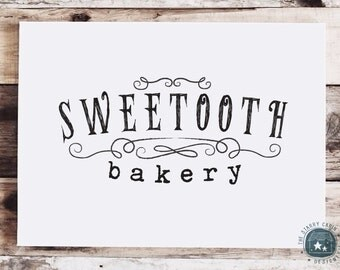 Hand Drawn Premade Logo - Customizable - Hand Lettered Text - Typography - Sketchy Lines - Black - Simple - Elegant - Curly - Photography